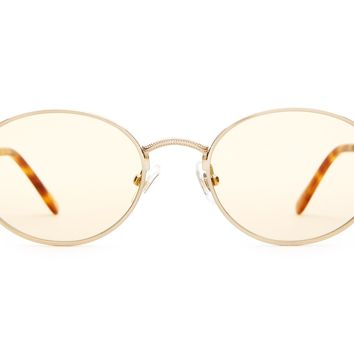 Crap Eyewear - New Riddim Brushed Gold + Havana Tortoise  Sunglasses / Gold Tint Lenses