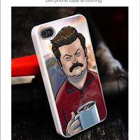 Ron Swanson iPhone for 4 5 5c 6 Plus Case, Samsung Galaxy for S3 S4 S5 Note 3 4 Case, iPod for 4 5 Case, HtC One for M7 M8 and Nexus Case