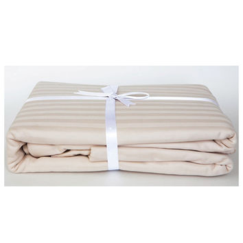 Stripe Sateen Duvet Cover Set - Lovely Ecru