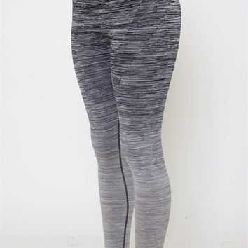 Get Your Zen on Ombre Leggings-Grey