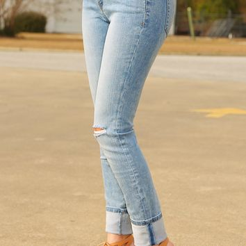 What You Know Jeans: Light Denim - Denim - Bottoms - Hope's Boutique