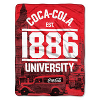 Coca-Cola (London) Micro Raschel Blanket (46in x 60in)