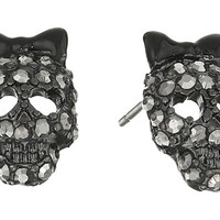 Betsey Johnson Skull Stud Earrings and Stretch Ring Set Crystal - Zappos.com Free Shipping BOTH Ways
