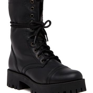 Steve Madden | Olly Lace-Up Leather Boot | Nordstrom Rack