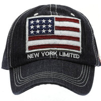 New York Limited American Flag Hat