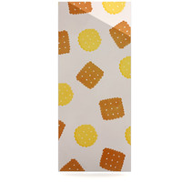 """Strawberringo """"Do You Love Biscuits?"""" Brown Yellow Luxe Rectangle Panel"""