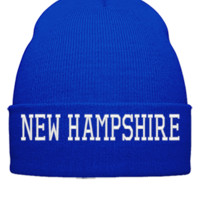 NEW HAMPSHIRE EMBROIDERY HAT  - Beanie Cuffed Knit Cap