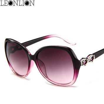 LeonLion 2018 Classic Gradient Oversized Sunglasses Women Brand Designer Vintage Ladies Sun Glasses UV400 Oculos De Sol Feminino