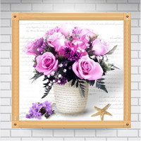 Diamond Painting Flowers 3D Cross Stitch Diamond Embroidery Mosaic Diamonds Wall Stickers Home Decor Needlework Resin