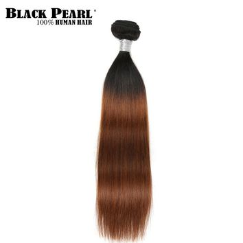 Black Pearl Pre-Colored Remy Hair Ombre Brown Human Hair Bundles 1PC Straight Hair Extensions Brazlian Hair Weave Bundles T1b30