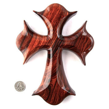 Wall Cross, Wooden Wall Cross, Wood Wall Cross, Christian Wall Decor, Wooden Cross Wall Decor, Hand Carved Wall Cross, Decorative Wall Cross