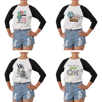 Women's Funny Image Quotes Printed Elbow Sleeves T- Shirt WTS_03