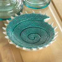 Turquoise Seashell Decorative Dish