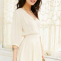 Ecote Winona Embroidered Romper- Cream