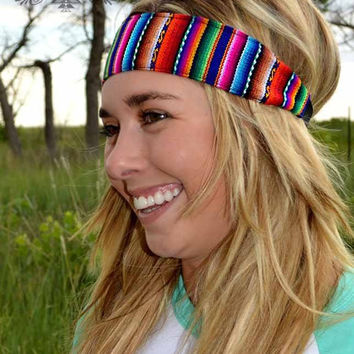Crazy Train Serape Headband