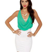 Cute Color Block Dress - Body Con Dress - $37.50