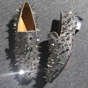 DCCK2 Cl Christian Louboutin Loafer Style #2368 Sneakers Fashion Shoes