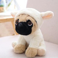 1pc 20cm 7 Styles Simulation Shar Pei Dogs Stuffed Soft Animal Puppy Pet Plush Toys Cute Kawaii Doll for Kids Baby Children Gift