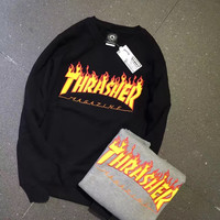 Womens THRASHER Black Sweatshirt