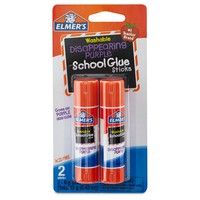 Elmer's® Washable Glue Sticks Disappearing Purple, 2ct