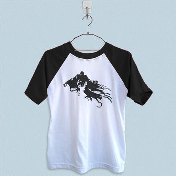 Raglan T-Shirt - Harry Potter Stag Patronus and Dementor