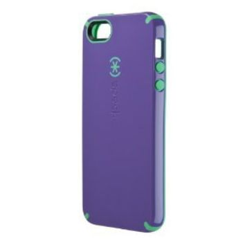 Speck Products CandyShell Case for iPhone SE, 5 & 5s - Grape Purple/Malachite Green