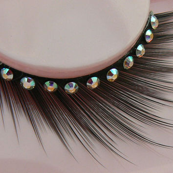 Angelic Upstart - Ultra Sparkly False Eyelashes with Genuine Preciosa Crystal AB Diamante Rhinestones