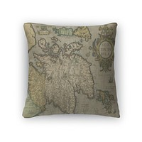 Throw Pillow, Old Map Of Scotland
