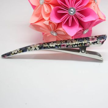 Hot sale14cm duckbill clip for women Girl hair headdress alligator clip with high efficiency Floral floral big hairpins jewelry