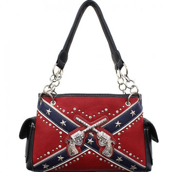 Six Shooter Rebel Flag Shoulder Bag