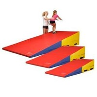 "We Sell Mats Gymnastics Folding Incline Cheese Wedge Skill Shape Tumbling Mat (Pink, 72""(Long) x 36""(Wide) x 16""(High) - Folding)"