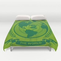 All Around The World Duvet Cover by Berwies
