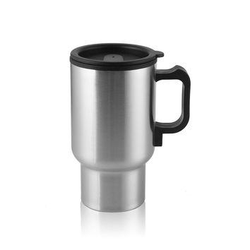 12V Car Cigarette Lighter Heating Insulated Vacuum Cup Stainless Steel Travel Coffee Mug