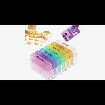 Weekly Pop-Up Pill Organizer (Ships From USA)