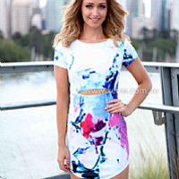 WIPE OUT DRESS , DRESSES, TOPS, BOTTOMS, JACKETS & JUMPERS, ACCESSORIES, SALE NOTHING OVER $25, PRE ORDER, NEW ARRIVALS, PLAYSUIT, GIFT VOUCHER,,White,Print Australia, Queensland, Brisbane