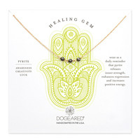 Dogeared Healing Gem Triple Pyrite Necklace - Sterling Silver & Gold Dipped 18 inch