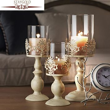 STAYGOLD Vintage Home Decor Romantic Wedding Decoration Candle Holders