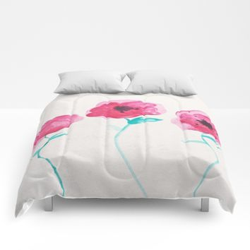 Asian Poppies Comforters by DuckyB