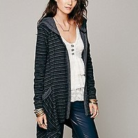 Free People  Stripe Long Zip Hoodie at Free People Clothing Boutique