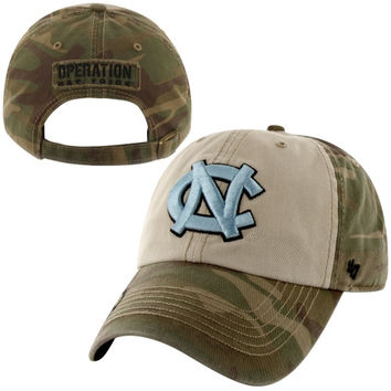 47 Brand North Carolina Tar Heels :UNC: Operation Hat Trick Gordie Adjustable Hat - Camo