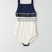 AEO Soft & Sexy Low Back Bodysuit , Navy