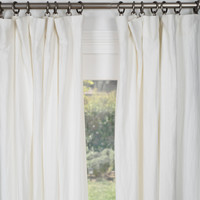 Belgian Flax Linen Drapery - Optic White