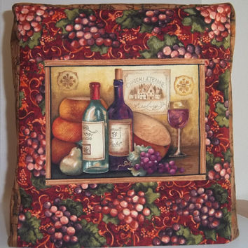 Kitchenaid Mixer Cover - Wine and Grape- Artisan Mixer Cover