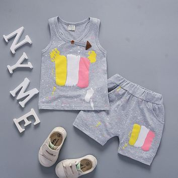 toddler fashion clothing sets 2018 summer boy 3 years wear baby sport suit cool kids clothes teen outfit print 2pcs dropshipping