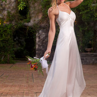 Silk Chiffon Halter Dress - Destination Wedding Dresses for Brides - Island Importer