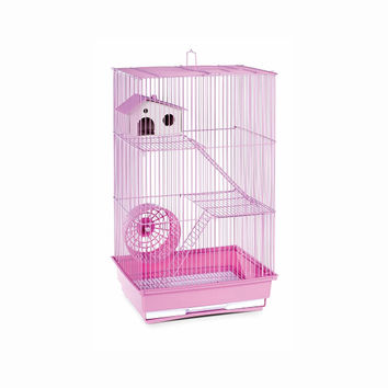 Prevue Hendryx Pet Products Three Story Expandable Small Animal Play Pen Hamster And Gerbil Cage - Lilac