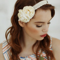 amiable analise tie headband by Petit Plume in ivory  ShopRuche.com, Vintage Inspired Clothing, Affordable Clothes, Eco friendly Fashion