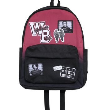 Licensed cool CW Supernatural Varsity Patches Winchester Brothers School Book Bag Backpack NEW