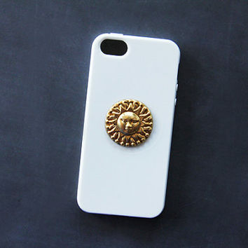 Sun iPhone Case White iPhone 5 Case iPhone 5s Case Sun Gold Hippie Psychedelic Samsung Galaxy S3 Case Samsung Galaxy S4 Case