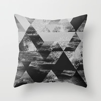 Abstract Sea Throw Pillow by Cafelab